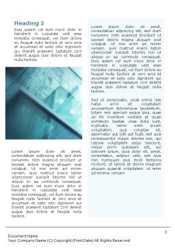 Elevator Word Template, Second Inner Page, 01763, Construction — PoweredTemplate.com