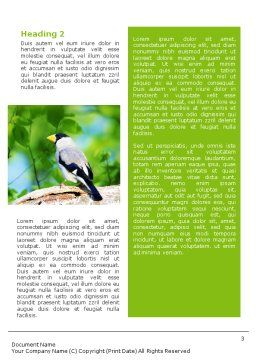 Gray Bird Word Template Second Inner Page