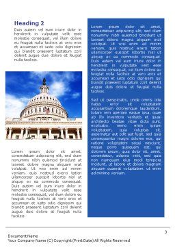 United States Capitol Building Word Template, Second Inner Page, 01766, Flags/International — PoweredTemplate.com