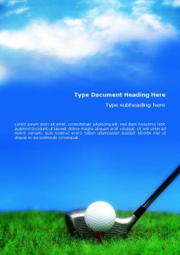Golf Word Template, Cover Page, 01768, Sports — PoweredTemplate.com