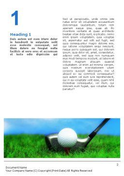 Golf Word Template, First Inner Page, 01768, Sports — PoweredTemplate.com