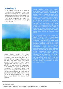 Golf Word Template, Second Inner Page, 01768, Sports — PoweredTemplate.com