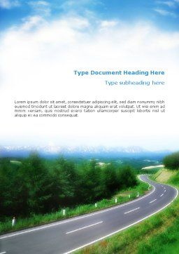 Road Word Template, Cover Page, 01769, Careers/Industry — PoweredTemplate.com