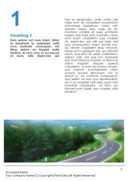 Road Word Template, First Inner Page, 01769, Careers/Industry — PoweredTemplate.com