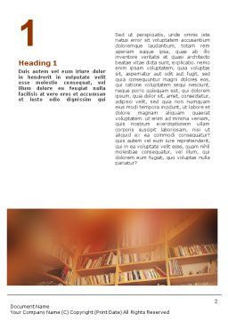 Girl On The Library Background Word Template First Inner Page