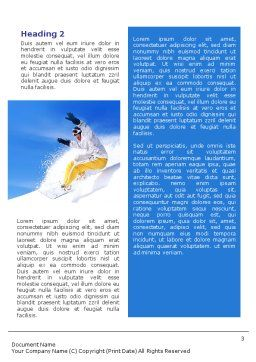 Snowboarding In Deep Snow Word Template, Second Inner Page, 01771, Sports — PoweredTemplate.com