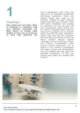 Medical Staff In The Operating Room Word Template, First Inner Page, 01772, Medical — PoweredTemplate.com