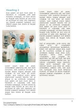 Medical Staff In The Operating Room Word Template, Second Inner Page, 01772, Medical — PoweredTemplate.com