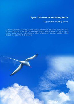 Sea Gull Word Template Cover Page
