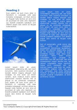 Sea Gull Word Template Second Inner Page