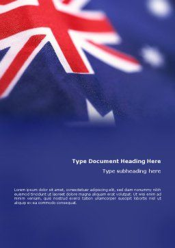 Australian Flag Word Template Cover Page