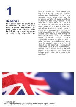 Australian Flag Word Template First Inner Page