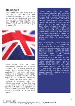 Australian Flag Word Template Second Inner Page
