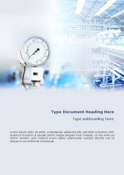 Manometer Word Template, Cover Page, 01776, Utilities/Industrial — PoweredTemplate.com