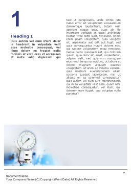 Manometer Word Template, First Inner Page, 01776, Utilities/Industrial — PoweredTemplate.com