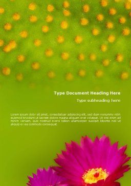 Bright Flower Word Template, Cover Page, 01777, Nature & Environment — PoweredTemplate.com