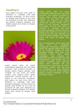 Bright Flower Word Template, Second Inner Page, 01777, Nature & Environment — PoweredTemplate.com