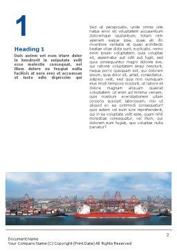 Sea Shipping Word Template, First Inner Page, 01782, Cars/Transportation — PoweredTemplate.com