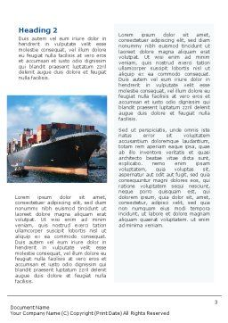 Sea Shipping Word Template, Second Inner Page, 01782, Cars/Transportation — PoweredTemplate.com