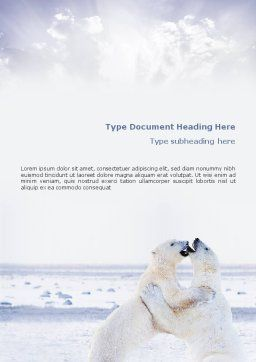 Polar Bear Word Template Cover Page