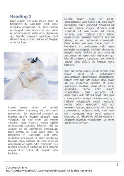 Polar Bear Word Template Second Inner Page