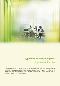 Office Discussion Word Template, Cover Page, 01786, Consulting — PoweredTemplate.com