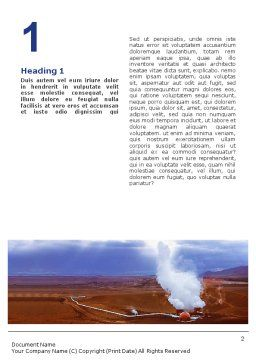 Gas-Mask on Chemical Landfill Word Template, First Inner Page, 01787, Utilities/Industrial — PoweredTemplate.com