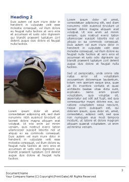 Gas-Mask on Chemical Landfill Word Template, Second Inner Page, 01787, Utilities/Industrial — PoweredTemplate.com