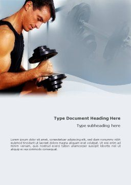 Bodybuilding Exercise Word Template, Cover Page, 01791, Sports — PoweredTemplate.com