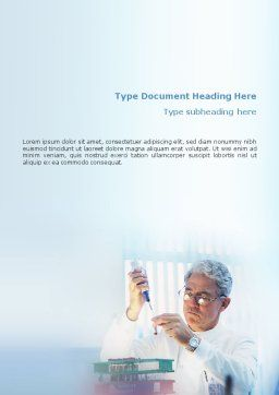 Medical Test Word Template, Cover Page, 01792, Technology, Science & Computers — PoweredTemplate.com