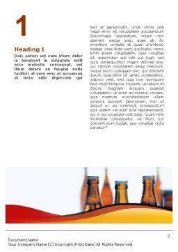 Bottles of Beer Word Template, First Inner Page, 01793, Food & Beverage — PoweredTemplate.com