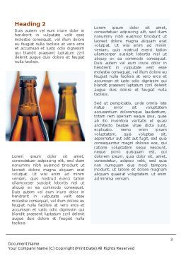 Bottles of Beer Word Template, Second Inner Page, 01793, Food & Beverage — PoweredTemplate.com