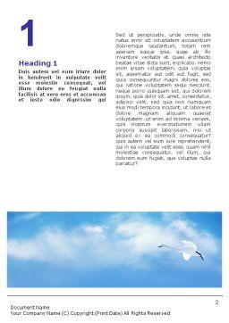 Swan Word Template, First Inner Page, 01797, Agriculture and Animals — PoweredTemplate.com