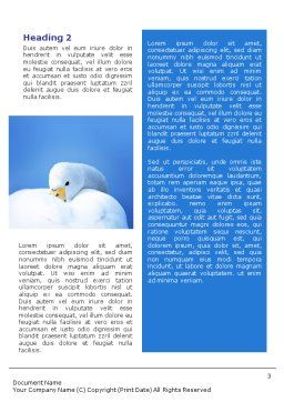 Swan Word Template, Second Inner Page, 01797, Agriculture and Animals — PoweredTemplate.com