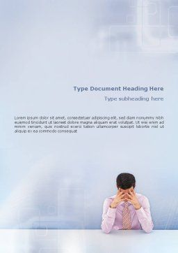 Male Health Word Template, Cover Page, 01799, Consulting — PoweredTemplate.com