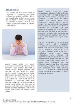 Male Health Word Template, Second Inner Page, 01799, Consulting — PoweredTemplate.com