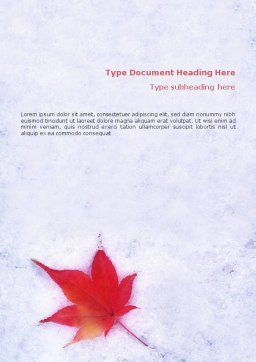 Winter Season Word Template, Cover Page, 01800, Nature & Environment — PoweredTemplate.com