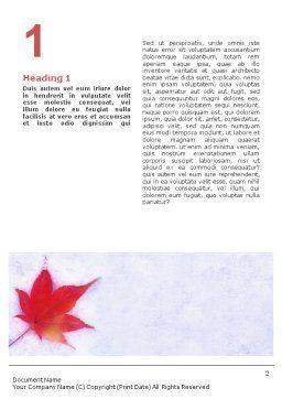 Winter Season Word Template, First Inner Page, 01800, Nature & Environment — PoweredTemplate.com
