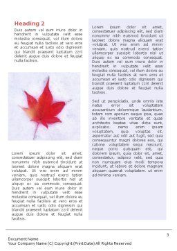 Winter Season Word Template, Second Inner Page, 01800, Nature & Environment — PoweredTemplate.com