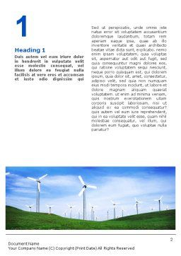 Wind Energy Word Template, First Inner Page, 01801, Technology, Science & Computers — PoweredTemplate.com