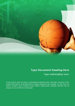 Throw Basketball Word Template, Cover Page, 01803, Sports — PoweredTemplate.com