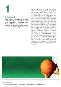 Throw Basketball Word Template, First Inner Page, 01803, Sports — PoweredTemplate.com