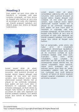 Blue Cross Word Template, Second Inner Page, 01804, Religious/Spiritual — PoweredTemplate.com