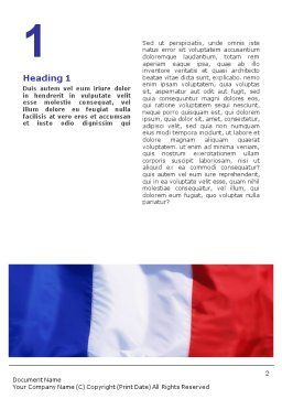 French Flag Word Template, First Inner Page, 01805, Flags/International — PoweredTemplate.com