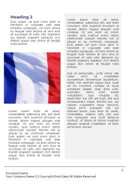 French Flag Word Template, Second Inner Page, 01805, Flags/International — PoweredTemplate.com