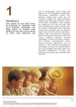 Music School Word Template First Inner Page