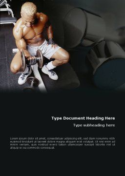 Weightlifter Word Template, Cover Page, 01807, Sports — PoweredTemplate.com