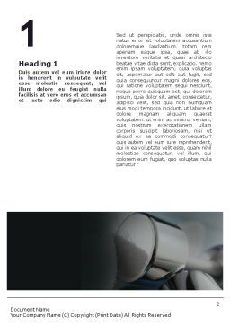 Weightlifter Word Template, First Inner Page, 01807, Sports — PoweredTemplate.com