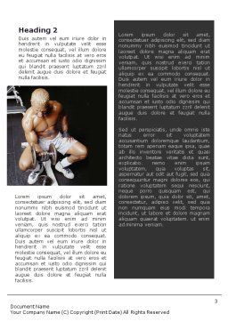 Weightlifter Word Template, Second Inner Page, 01807, Sports — PoweredTemplate.com