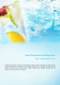 Soft Drink Word Template Cover Page